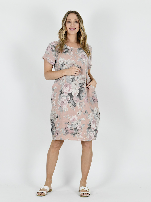 Florence dress dusty pink