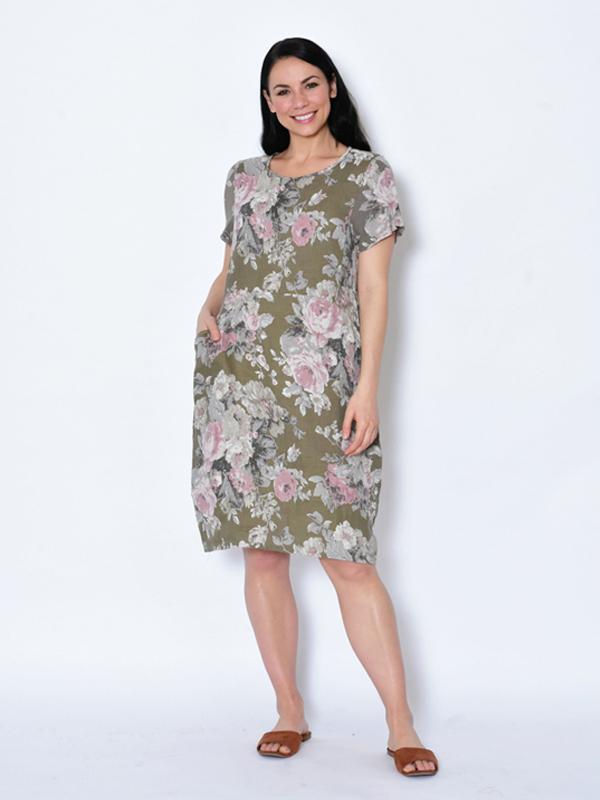 Florence Dress - khaki front