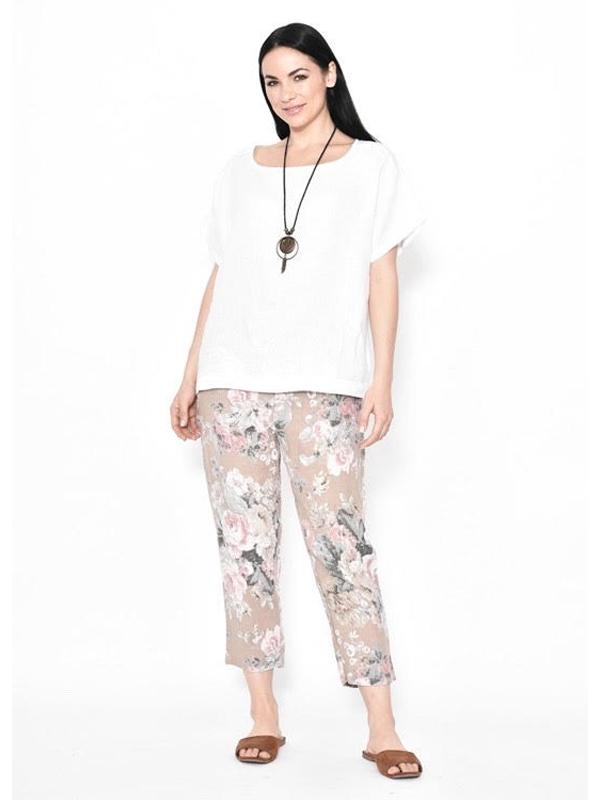 Linen top Florence pants Beige