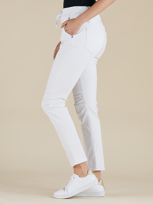 Jogger Jeans White Side