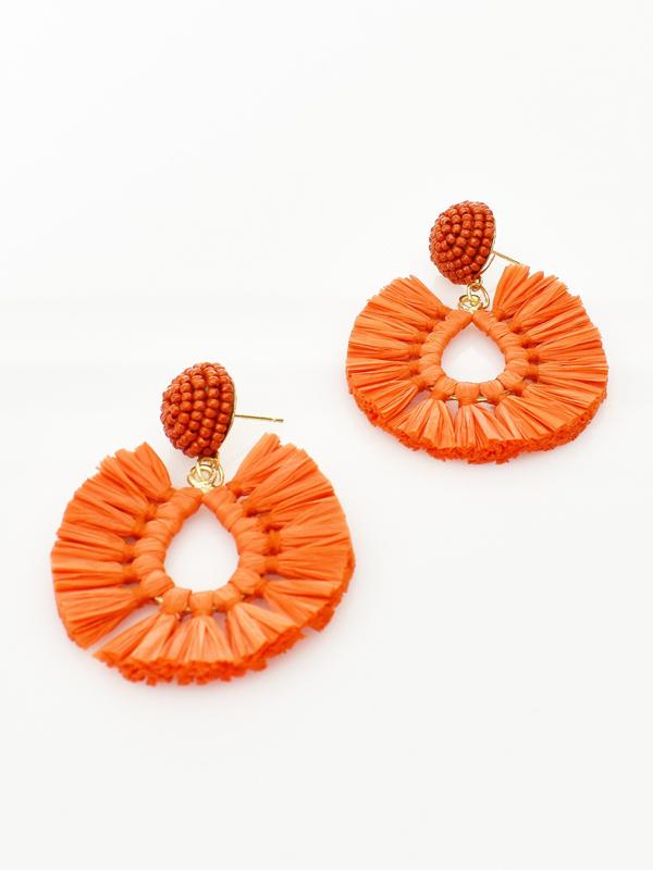 Pop of colour earrings orange