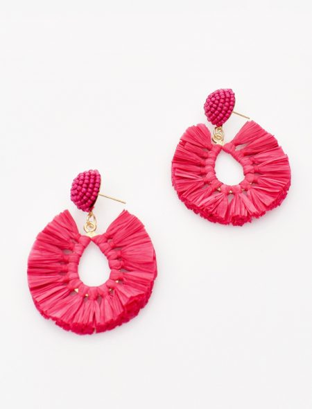 Pop of colour earrings pink