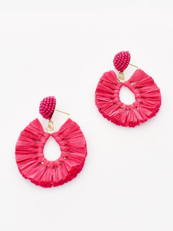 Pop of colour earrings pink