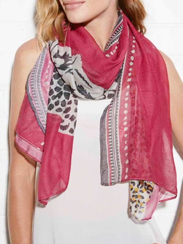 Spring safari scarf
