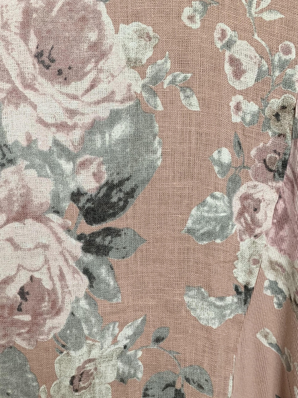 Florence linen pink close up