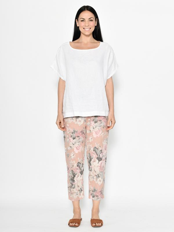 Florence linen pants - pink