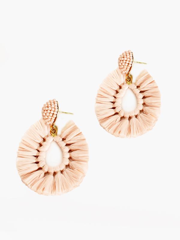 Pop of colour earrings - Blush