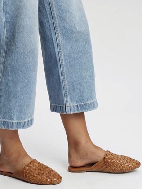 Woven mules side view
