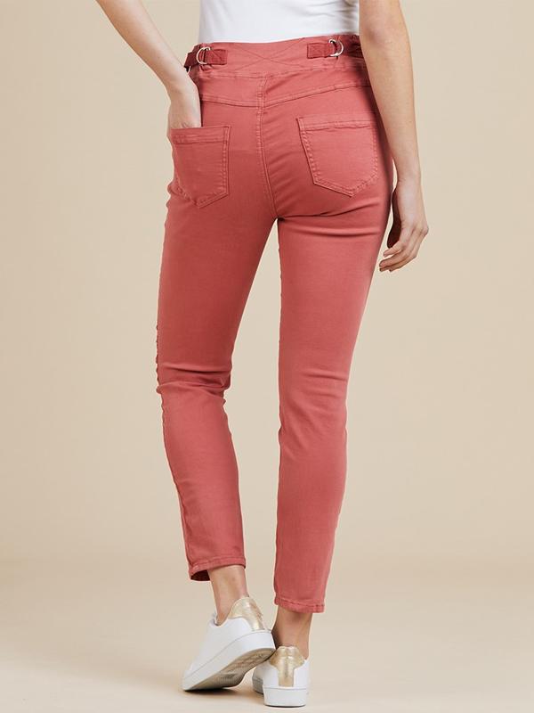 Jogger jeans light red back