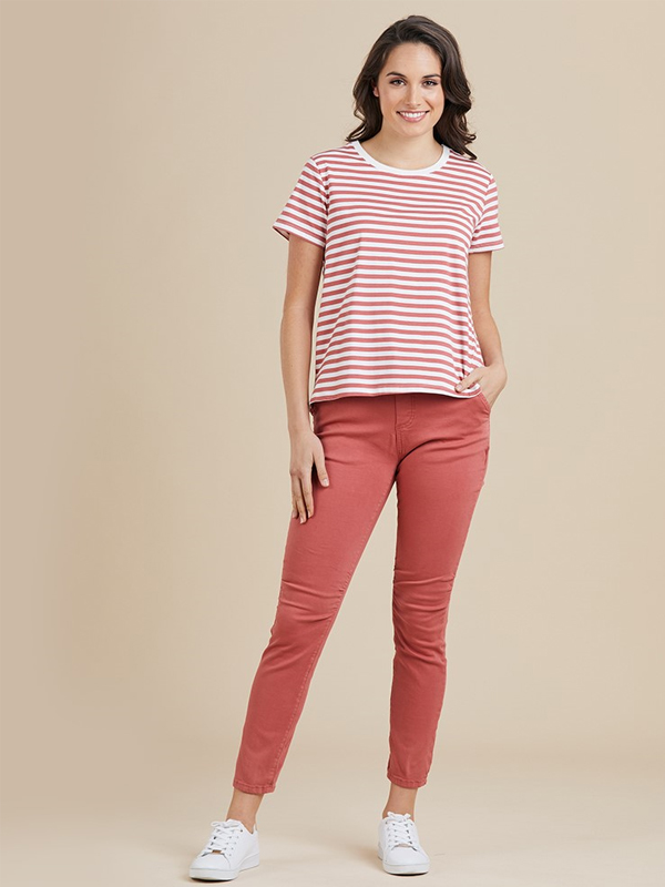 Jogger jeans light red