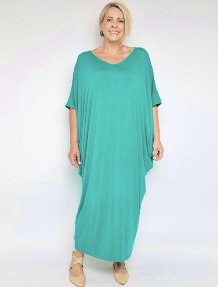 Maxi miracle dress- peacock green