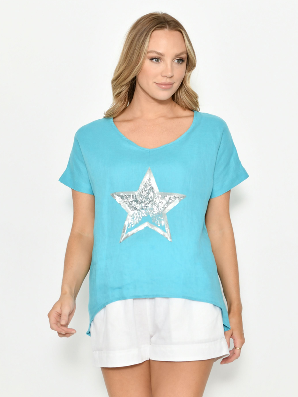 Star Top Blue Front