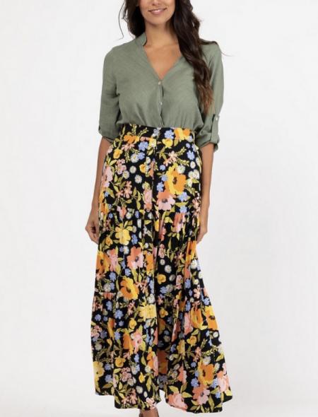 Bohemian maxi skirt front