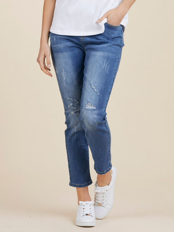 Distressed Jeans Front