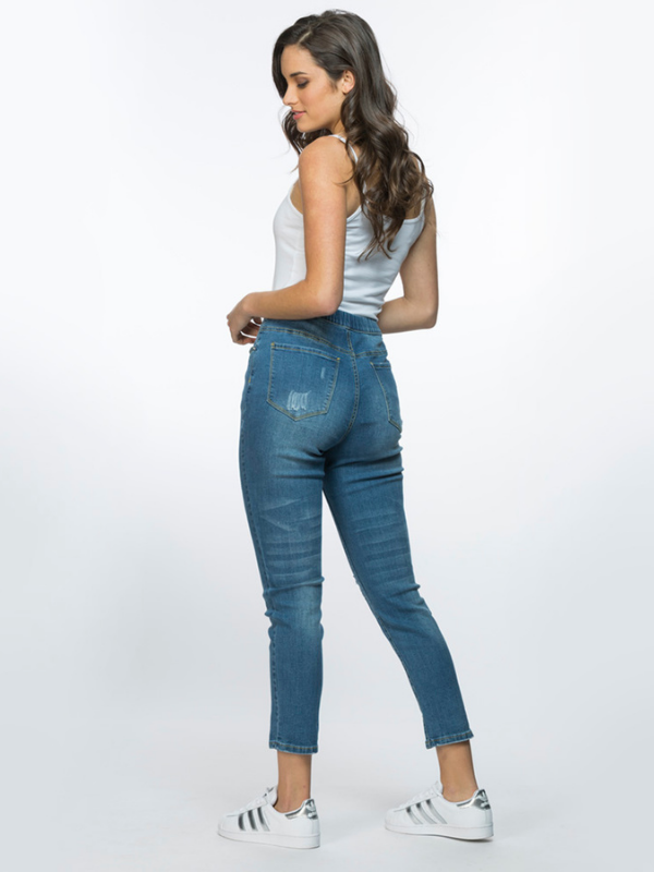 Distressed Jeans back view