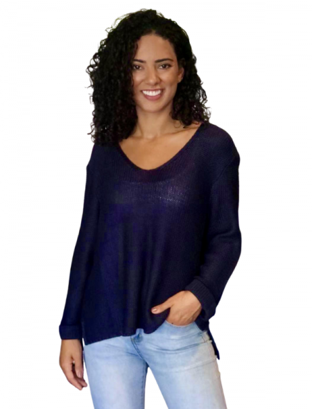 Favourite Knit Top Navy