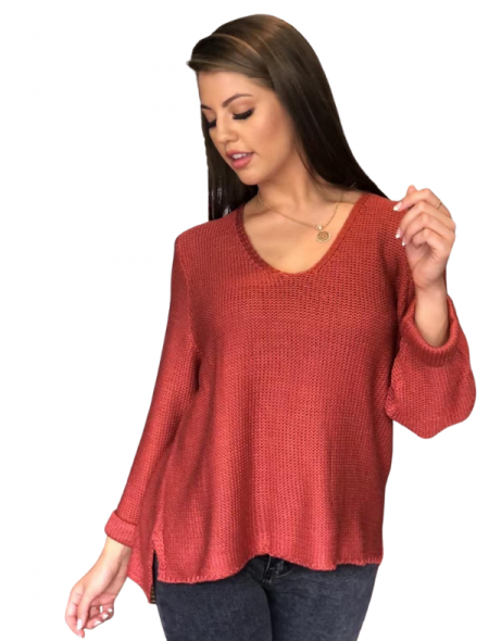 Favourite Knit Top Rust