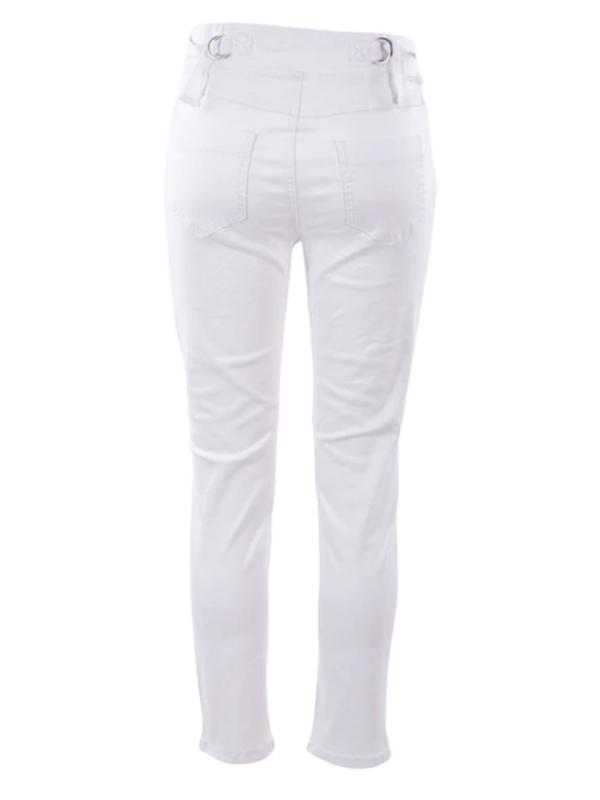 Jogger jean white back