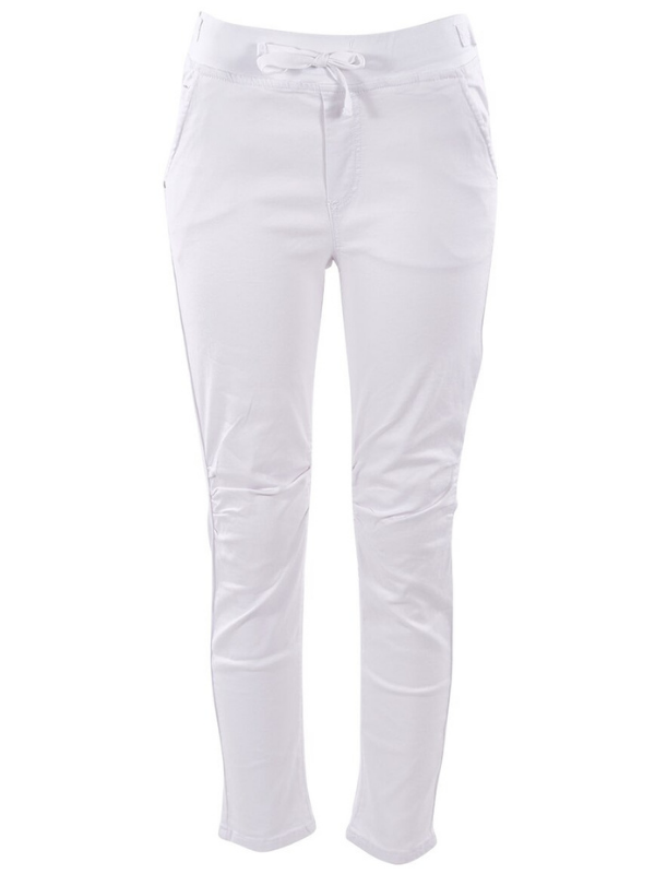 Jogger jean white ghost