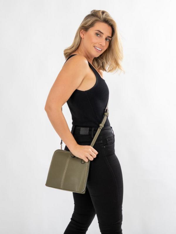 Kourtney Cross Body Bag Olive Front