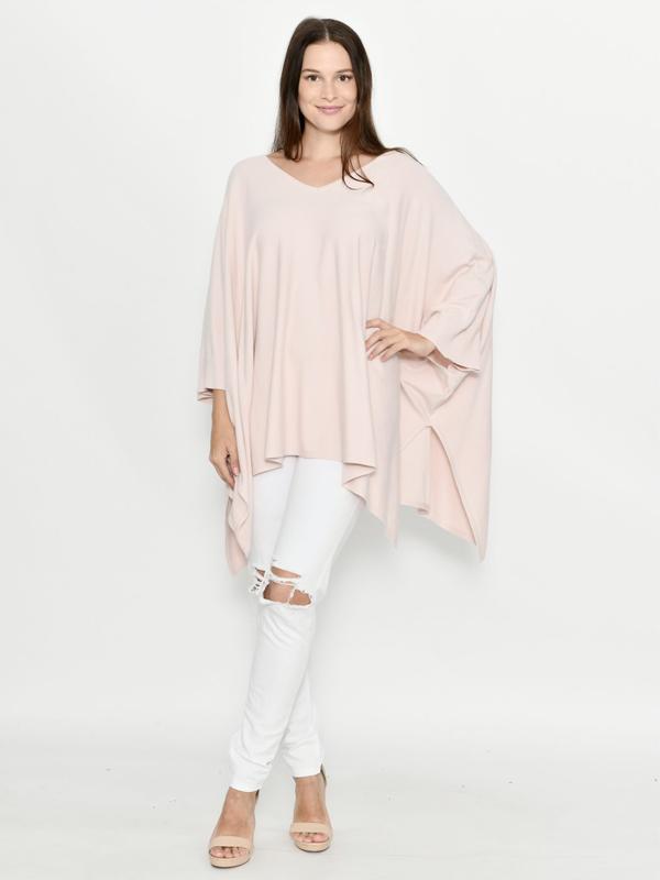 Panache Poncho pink