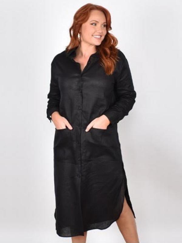 Classic linen dress
