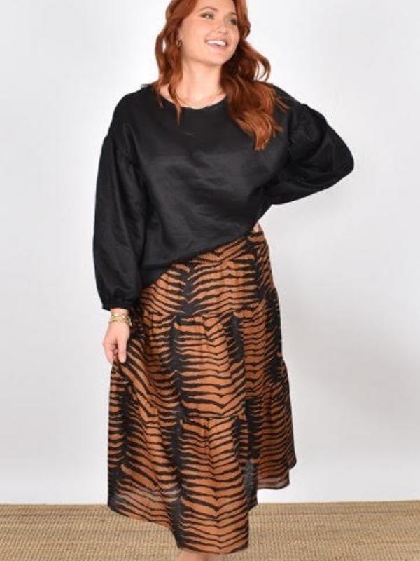 Mia Midi Skirt Front View
