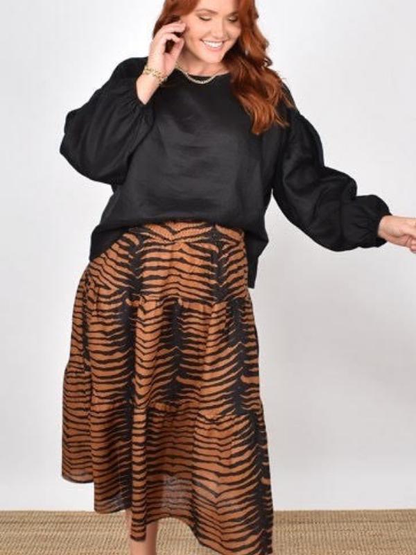 Mia Midi Skirt Front