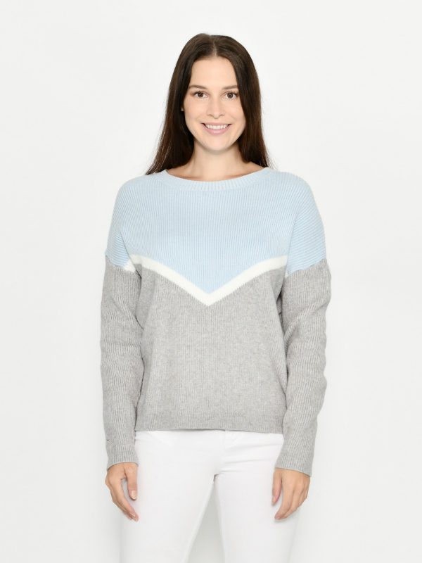 Ribbed knit jumper Front view