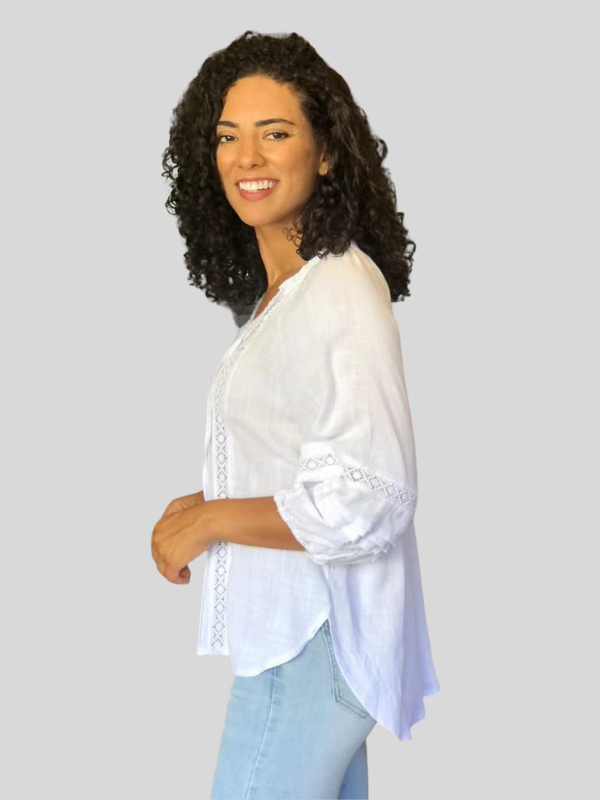 White peasant top Side