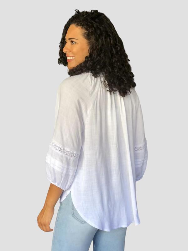 White peasant top back