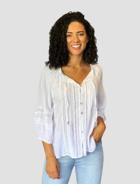 White peasant top front