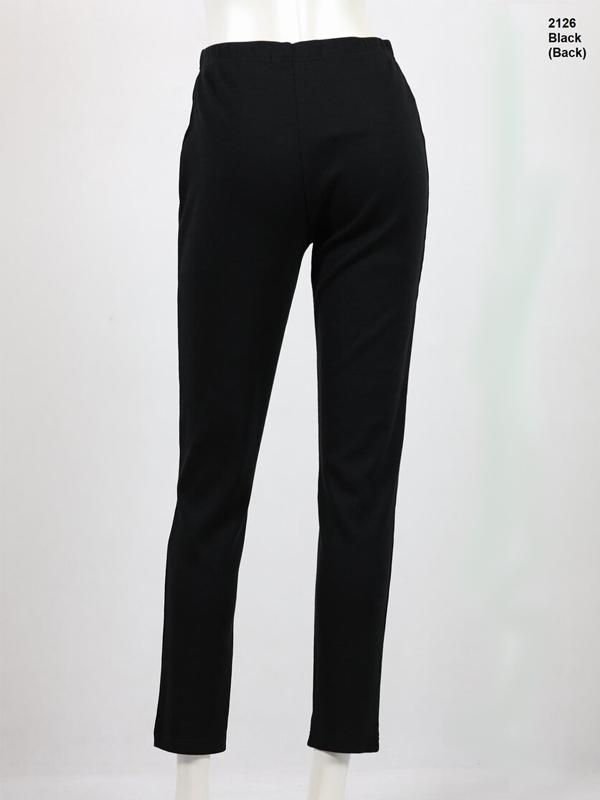 Black fleece leggings Back