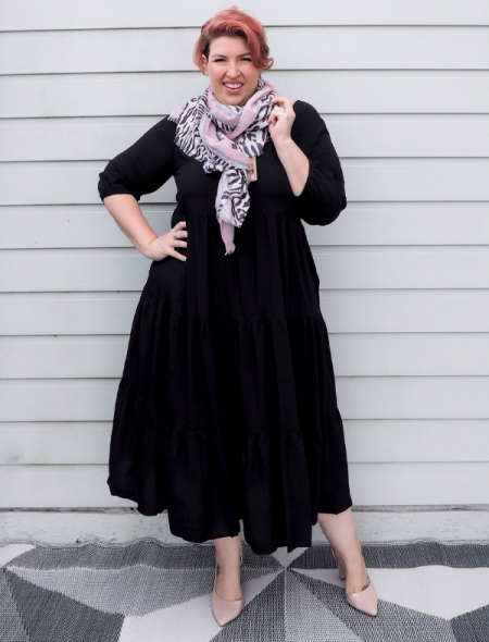 Essential Dress pink leopard scarf