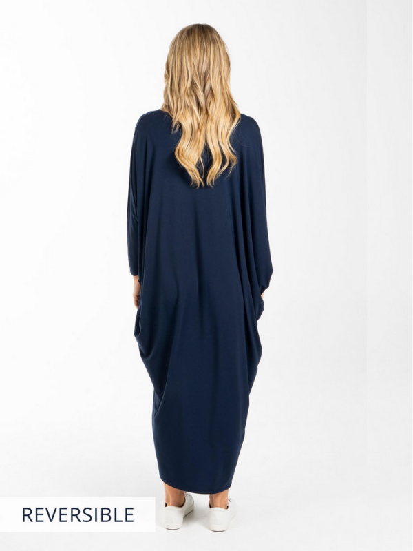Winter Maxi Miracle Dress - Navy Back