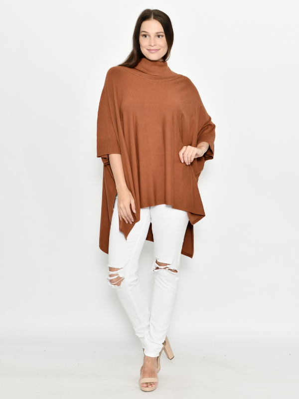 Winter Poncho rust front