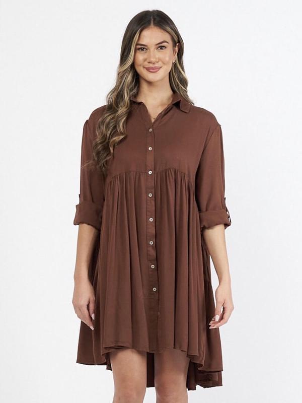 Cascade Shirt Dress Coco Front