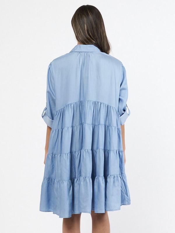 Chambray Dress Back