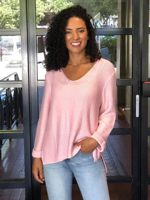 Favourite knit top pink
