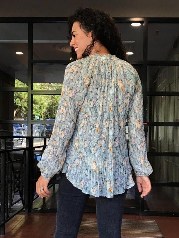 Vintage floral Blouse back