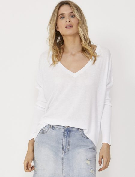 Spring Knit Top tucked