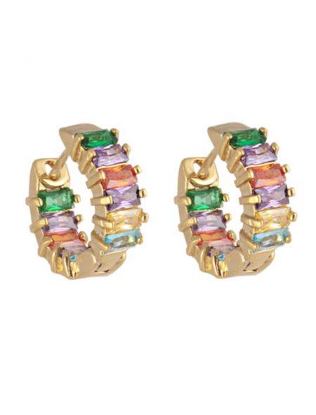 Jewelled Huggie Earrings