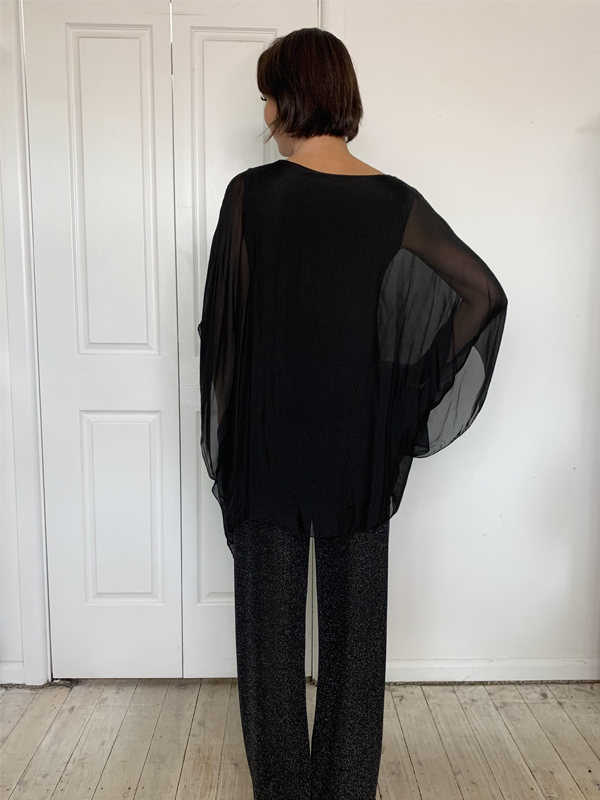 Silk and Sequin Top Back