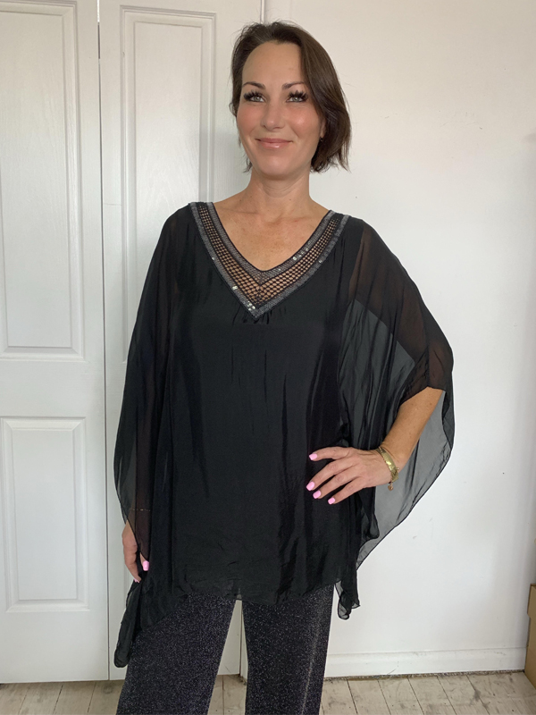 Silk and Sequin Top