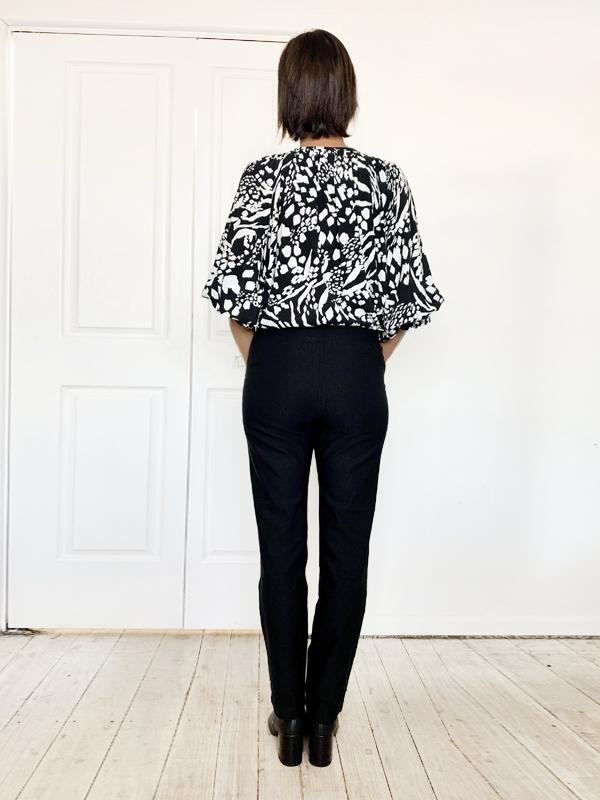 Everyday Black Pants Back
