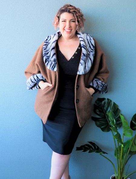 Lulu Coat - Tan Front View