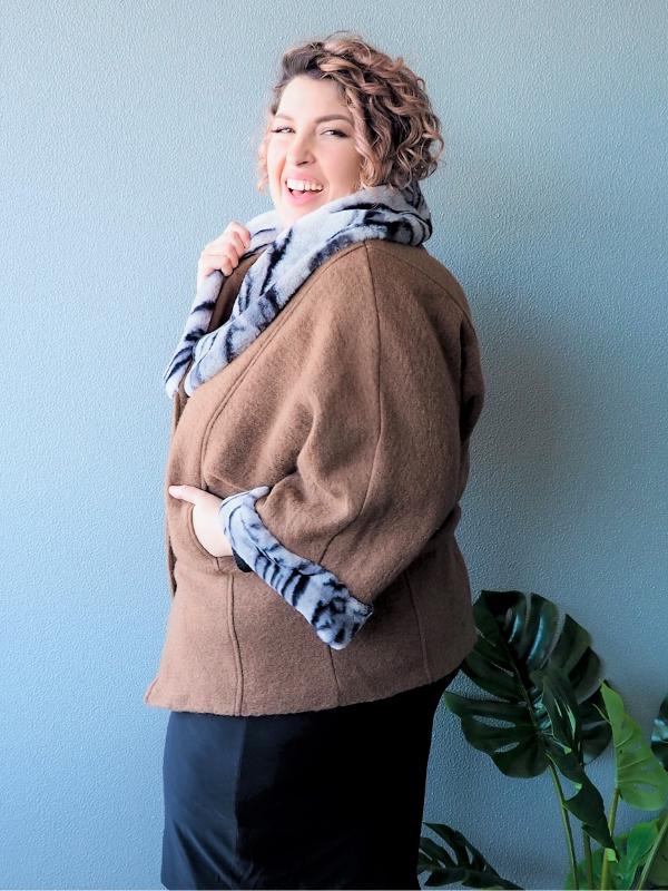 Lulu Coat - Tan Side