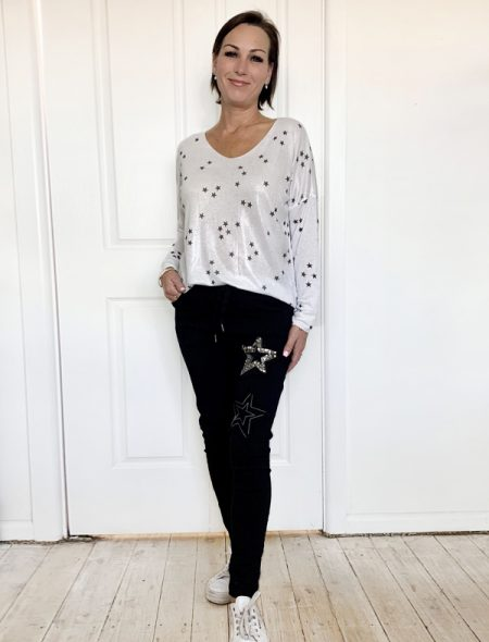 Luxe Jeggings and stargaze top