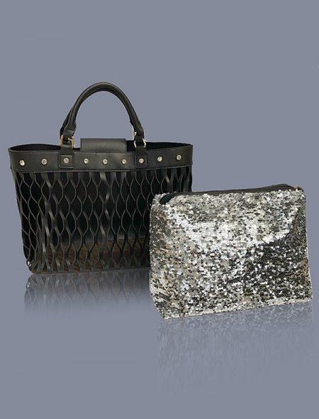 Dazzle Handbag Black