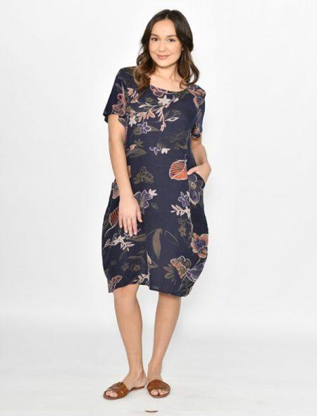 Livorno Linen Dress Front